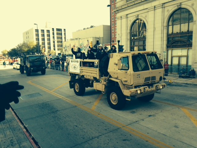 Veteran's Day in Downtown Tulsa. Thanks to our veterans for the sacrifices they have made on behalf of our country.